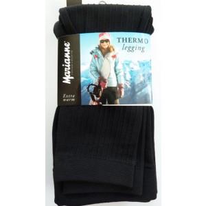 Thermo legging voor dames met een mooi rib patroon