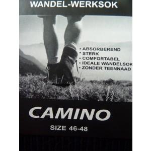 Camino wandel- en werksok van katoen per 6 paar