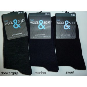 Dunne 40% wollen dames sokken zonder teennaad