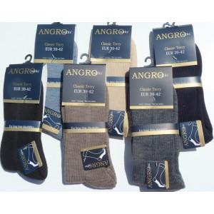 Klassieke heren sokken met dunne badstofzool van wol zonder naad op de tenen!