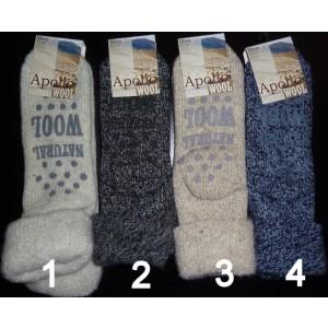 Huissokken/ bedsokken voor heren met 45% wol en antislip !