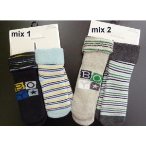 Warme baby sokken. Deze sokken zijn badstof gebreid aan de binnenkant