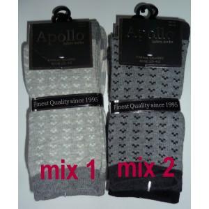 Apollo dames sokken met hartjes en twee andere prints