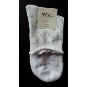 Meisjes sokken met stipjes en een kort boordje