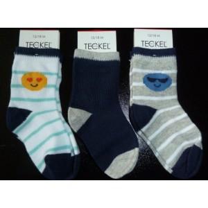 Baby sokjes met emoticons