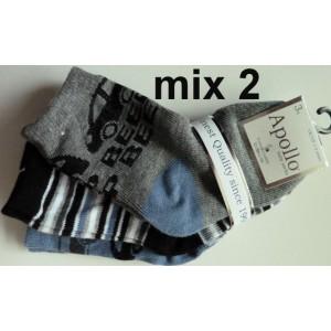 Apollo baby sokjes van katoen met strepen en auto's