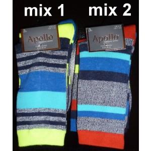 Apollo kinder sokken van katoen met strepen