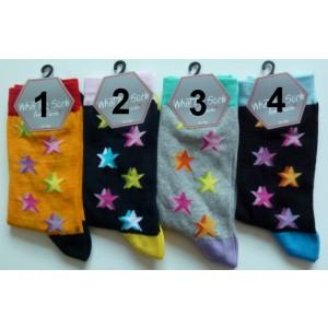 Grappige moderne dames sokken in vrolijke kleuren