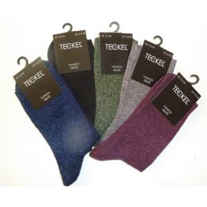 Glitter mode sokken voor dames in diverse kleuren