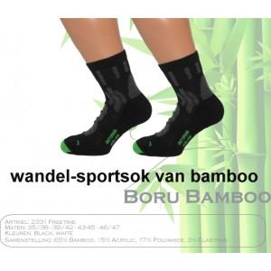 Boru Bamboo sport- wandelsok met een korte boord