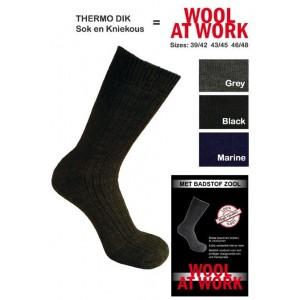 Zware kwaliteit sokken met een badstofzool van wol!
